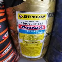 DUNLOP 120/70-17 D102 TUBELES BAN BELAKANG MOTOR VXION VELG RING17
