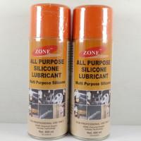 Silicone Spray Pelumas Silikon Lubricant ZONE 400ML Multi Purpose