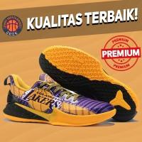 Sepatu Basket Sneakers Nike Kobe Mamba Focus Lakers PE Yellow Purple