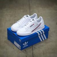 Sepatu Casual Adidas Continental 80 White Scarlet Original 100% BNIB!
