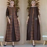 Baju Batik Wanita Gamis Wanita Busui Gamis Batik Jumbo GM - 166