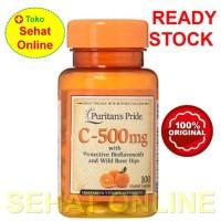 Puritan Pride Vitamin C 500 mg with Bioflavonoids Rose Hips 100 Caplet