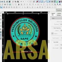Emblem patch bordir PERSATUAN KELUARGA PERGIWO di agenforedijogja