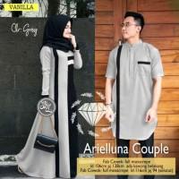 Baju Gamis Muslim Wanita Couple Arielluna Dress Syari Baju Koko Kurta