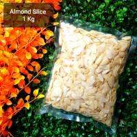 Kacang Almond Slice Mentah / Raw Slice Almond - 1 kg