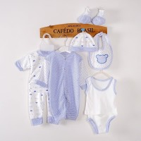 LKM124 Set Newborn Sleepsuit Baju Baby Polyester + Cotton Bayi Baru La
