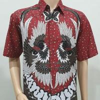 Kemeja Pria Jumbo 4L-5L Baju Hem Batik Big Size Ukuran Besar MLND
