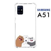 Custom Casing Samsung A51 Softcase Anticrack Motif Panda Lucu 21