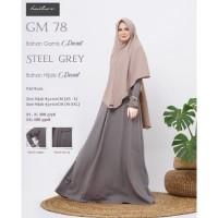 SET BAJU GAMIS Syari Hijab Wanita Muslimah Dress GM 78 ORI Hai-Hai