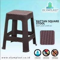BANGKU / KURSI BASO / BAKSO PLASTIK RATTAN / ROTAN ANYAMAN OLYMPLAST