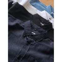 Kemeja Pria Limback - Linen Shirt Navy