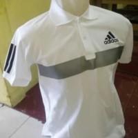 Polo/Shirt/Pria/Baju/Kaos/Berkerah Adidas Garis Trendy