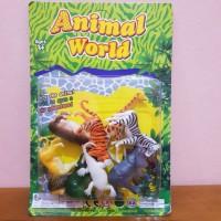 Mainan Edukasi Set Animal world - Hewan kebun binatang anak edukatif