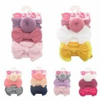 bandana bayi headwrapbayi bando bayi headband impor cantik isi 3 pcs