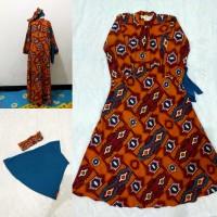 baju muslim anak gamis keke size 8 batik