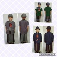 Baju Muslim Anak SARKOCI (Sarung Koko Peci) Usia 2 - 4 Tahun
