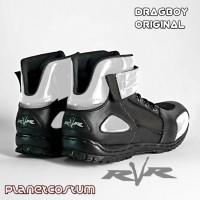 Sepatu Touring Ringan RVR Dragboy Merah Red Boots murah safety pria