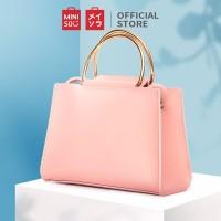 MINISO Handbag Tas Selempang Wanita Jinjing Sling Bag Polos Fashion - Orange
