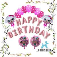 Balonasia Dekorasi Ulang Tahun LOL Surprise! Pink Set Berkualitas