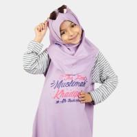 GA02 Gamis Kaos Baju Muslim Anak Perempuan 3-12 Tahun Ammar Kids The