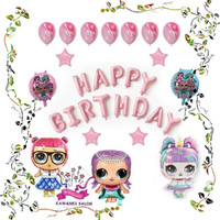 LoL Trio Dekorasi Set/Balon Foil LOL/Balon Ulang Tahun/Balon Karakter