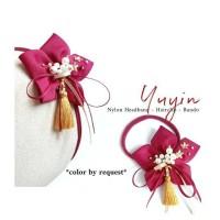 Yuyin Imlek-Headband Nylon Bandana Bando Jepit Karet Rambut Anak Bayi