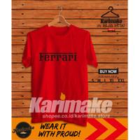 Kaos Baju Mobil Ferrari Font Kaos Otomotif - Karimake