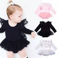 Romper Polos Tutu Lengan Panjang /Baju Bayi /Baju Anak