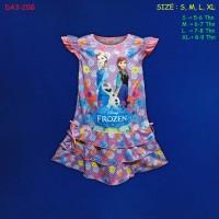 (DA3-20G) Daster Anak Frozen Beautiful Dream Usia 5-9 Tahun