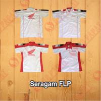 Baju Kemeja Seragam Honda FLP Plus Nama Dealer untuk Wanita
