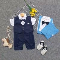Baru baju bayi jas bayi laki laki romper bayi tuxedo⠀⠀⠀