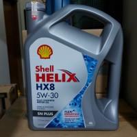 oli shell helix hx8 5w-30 4 Liter . dijamin asli . barcode bisa discan