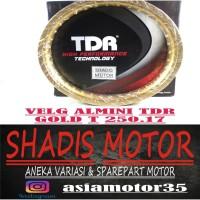 Velg Almini TDR W Shape Warna Gold Ukuran 250 Ring 17