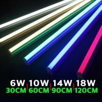 PAKET 1 LAMPU TL TINGGAL PAKAI T5 LED NEON 6 10 14 18 Watt - Putih, 30CM 6Watt