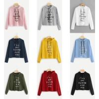 Baju Kaos Wanita Lengan Panjang Sweater Hodie I'll Be There For You