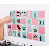Wallpaper/Stiker Dapur ANTI MINYAK AntiApi Wall Sticker Aluminium Foil