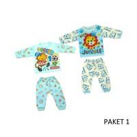 Setelan baju bayi, setelan baju tidur bayi murah Size L 1 set isi 2pcs - PAKET 1