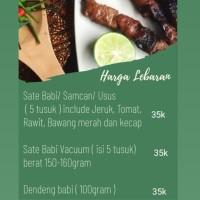 Sate Babi / Babi Merah lauk Semarang Non Halal