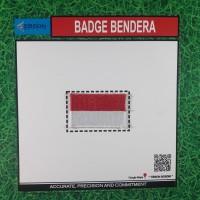 Atribut Sekolah Bet/ Badge Bordir Bendera Merah Putih Uk 5x3 Grosir