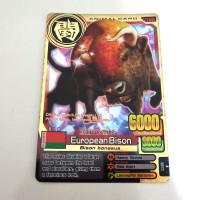 Kartu ANIMAL KAISER ANIMAL CARD EUROPEAN BISON GOLD EVO 5 100 ORIGINAL