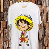 T-shirt Brave Luffy / Baju Kaos Distro Pria Wanita Cotton 30s
