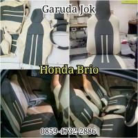 sarung jok mobil All New Honda Brio 2018 free cover stir stok ter