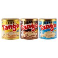 Wafer Tango Kaleng 350gr Coklat, Vanilla, & Keju - Coklat Terjamin