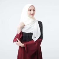 Zoya Kerudung Segi Empat Polos - Maruna Nadir Scarf Broken White