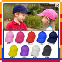 Topi Baseball Anak / Topi Polos Anak / Topi Baseball Anak Anak - Hitam