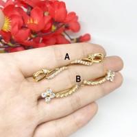 Anting Fashion Xuping Rambat Jalar Bunga Lilit Lapis Emas - BE265 ...