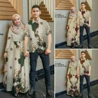 COUPLE HANA BATIK (NO JILBAB) Baju Couple Gamis Kemeja Lengan Pendek