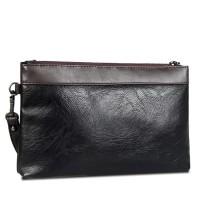 Tas Dompet Clutch Tangan Men Handbag Pria - PU Leather black