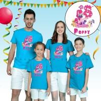 Best seller-Kaos / Baju couple ulang tahun ayah ibu anak,LITTLE PONY.