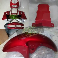 Body fairing fering bawah depan belakang Ninja RR old Merah maron